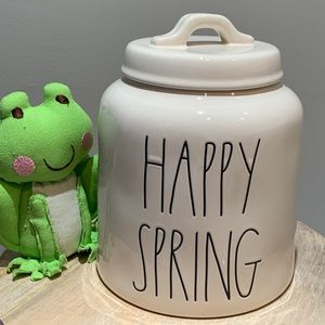 Rae Dunn HAPPY SPRING Canister